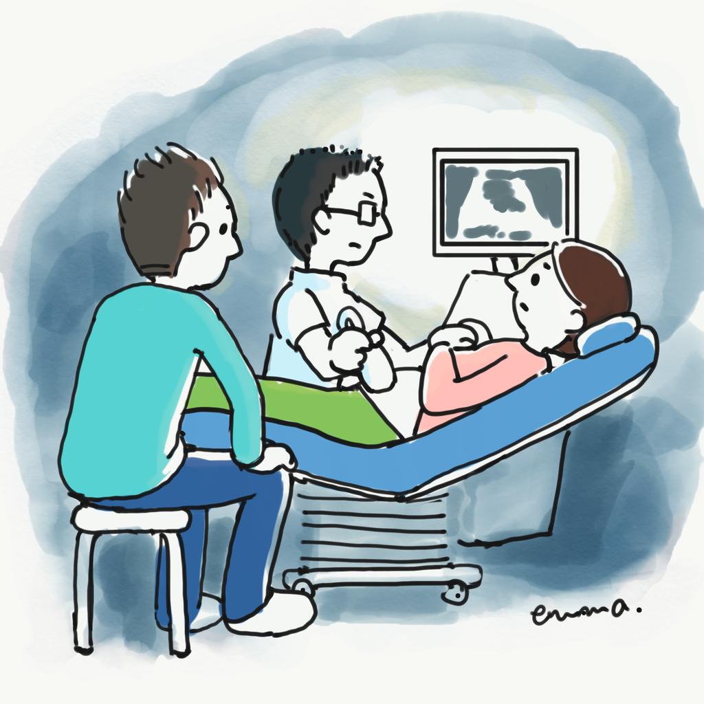 イラスト:胎児ドックの様子